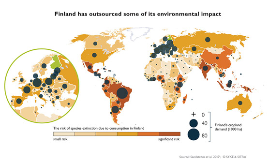 Picture Finland has outsourced some of its environmental impact