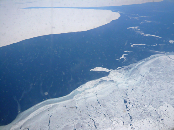 A view of the Canadian coastal sea ice.
