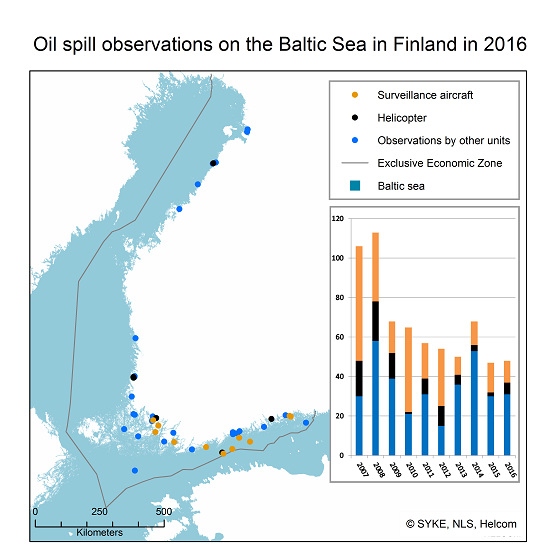 Oil spill observations