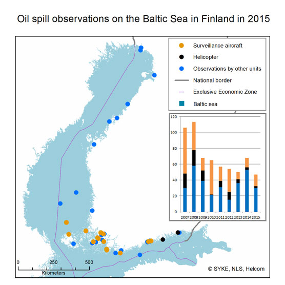 oil spill observations 2015 map
