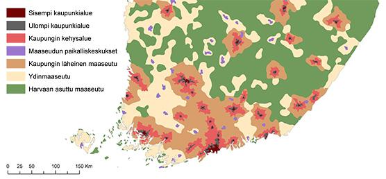 Suomen asukastiheys