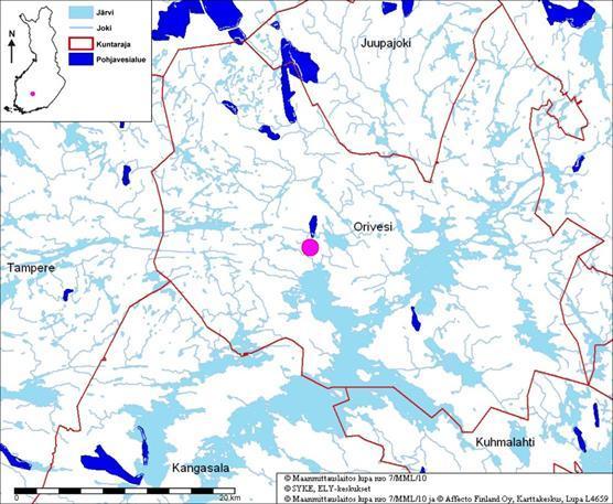 Pohjavesialue Kartta